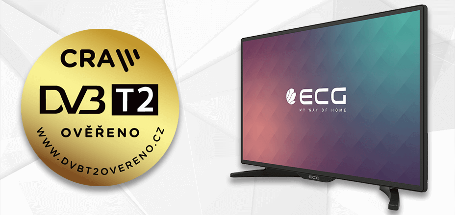 ECG TV sets have been certified for future DVB-T2 broadcasts