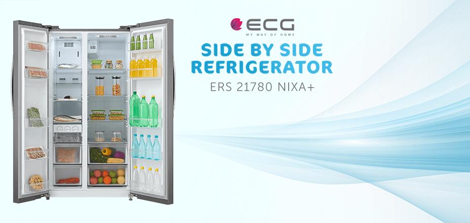 Predstavljamo vam luksuzni američki side-by-side kombinirani hladnjak ECG ERS 21780 NIXA+